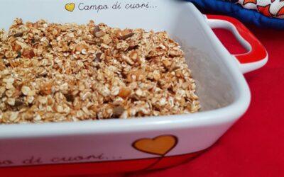 CEREALI CROCCANTI PER LA COLAZIONE CON FRUTTA SECCA granola crunchy